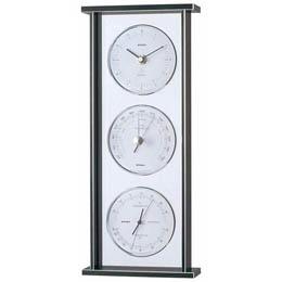 ☆EMPEX スーパーEX ギャラリー気象計・時計 EX-793 シルバー
