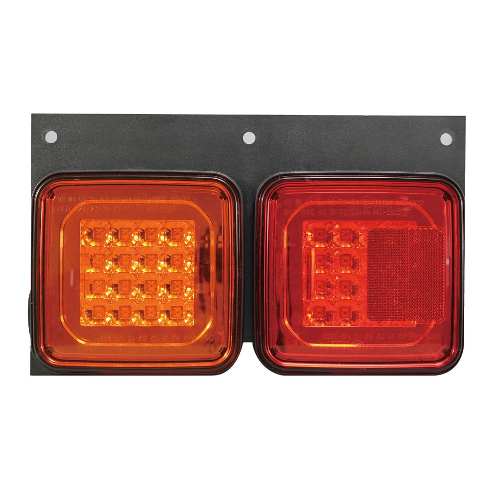 YAC(槌屋ヤック) 角型2連LEDテールランプ24V(補修用左側のみ) YL-802