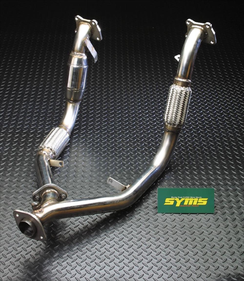 SYMS シムスレーシング Mキャタ付フロントパイプ 品番:Y080144013 車種:レガシィ(AT車) BE/BH