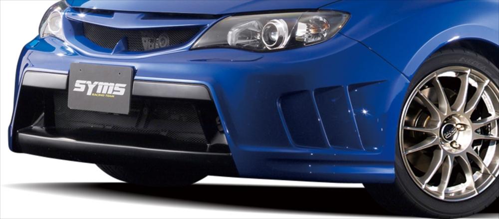 <代引不可>SYMS シムスレーシングフロントエアロキット ヘッドライトウォッシャー付モデル用 品番:Y3000GR005 車種:インプレッサ GRB /GRF