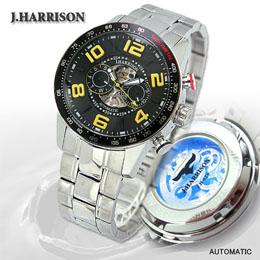 ☆J.HARRISON 8石天然ダイヤモンド付自動巻&手巻き時計 JH-020BY