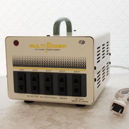 ☆スワロー電機 【受注生産のため納期約2週間】100~240V対応 マルチ変圧器 550W SU-550