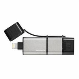 ☆IOデータ U3-IP2/64GK iPhone/Android/パソコン用 USBメモリー 64GB