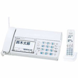 <欠品 未定>☆Panasonic デジタルコードレス普通紙FAX 「おたっくす」 (子機1台付き) ホワイト KX-PZ610DL-W