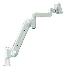 ☆ライブクリエータ スイング式スタンダードアーム フランジ付グロメット固定 低荷重 アイボリー ARM2-10AG2