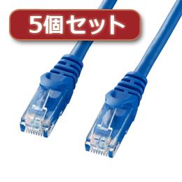 ☆【5個セット】 サンワサプライ カテゴリ6UTPLANケーブル LA-Y6-15BLX5