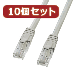 ☆【10個セット】サンワサプライ カテゴリ6UTPクロスケーブル KB-T6L-03CKX10