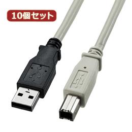☆【10個セット】 サンワサプライ USB2.0ケーブル KU20-3K KU20-3KX10