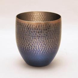☆王輝 銅製鎚目焼酎カップ 満水容量約430ml アヅマ KG-1656