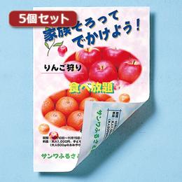 ☆【5個セット】サンワサプライ インクジェット用両面印刷紙/厚手(大容量) JP-ERV5NA4-100X5