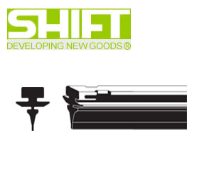 SHIFT シフト GBU-1000 純正ワイパー用替えゴム(グラファイト・金具付き) GBUタイプ 大型バス用 幅13mm 長さ1000mm 業務用20本入り 【NFR店】