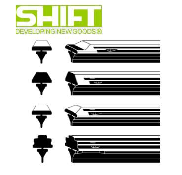 SHIFT シフト GGB-710 純正ワイパー用替えゴム(グラファイト・金具無し) GGタイプ(ベンツ) 長さ710mm 業務用10本入り 【NFR店】