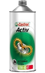 Castrol カストロール Activ 4T MA 4L 6本セット(1ケース) 【NFR店】