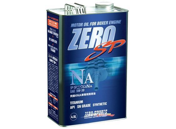 ZERO SPORTS ゼロスポーツ ZERO SP チタニウムエンジンオイル NA 4.5L×4缶セット 5W-30 【NFR店】