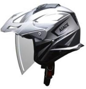 LEAD リード工業 ヘルメット AIACE(アイアス) シルバー Lサイズ (59-60未満) 【NFR店】