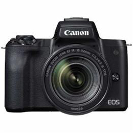 ☆CANON ミラーレス一眼カメラ 「EOS Kiss M」 EF-M18-150 IS STM レンズキット (ブラック) EOSKISSMBK-18150ISST