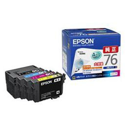 ☆EPSON 純正インクカートリッジ(4色セット・大容量) IC4CL76