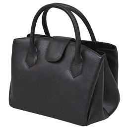☆日本製牛革ジャバラ式手提げバッグ(ブラック)