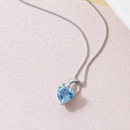 ☆ブルートパーズ&ダイヤモンドペンダント