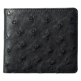 ☆紳士用オーストリッチ財布 ブラック