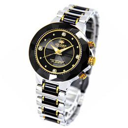 ☆J.HARRISON 4石天然ダイヤモンド付ソーラー電波婦人用時計 JH-024LBB