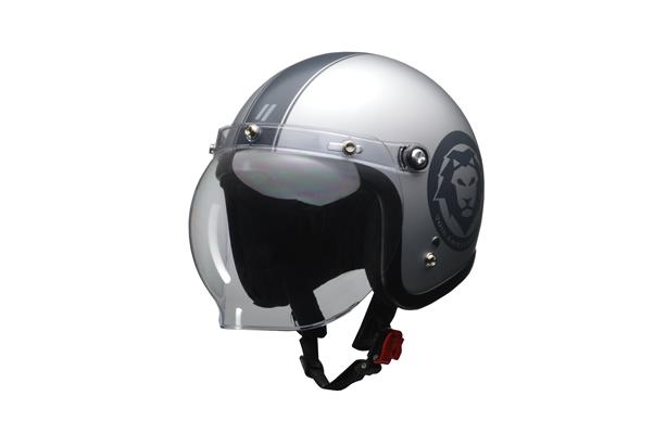 LEAD リード工業 MOUSSE 70s スモールジェットヘルメット マットシルバー フリーサイズ(57~60cm未満) 【NF店】