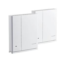 867+400Mbps ☆エレコム WMC-DLGST2-W ホワイト 無線LANルーター親機+中継器セット メッシュ 11ac.n.a.b.g