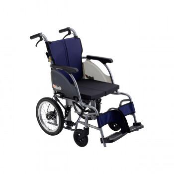 軽くてコンパクトな車椅子 代引不可 ミキ MiKi 車いす 折りたたみ 軽量 コンパクト 期間限定特価品 CRTシリーズ 他の商品と同梱不可 トラスト 離島別途送料 カルッタ CRT-2-CZ 紺 沖縄 A16 北海道