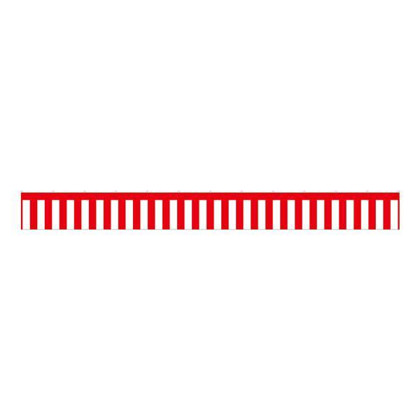 B紅白幕 23939 トロピカル 4間 H700「他の商品と同梱不可/北海道、沖縄、離島別途送料」