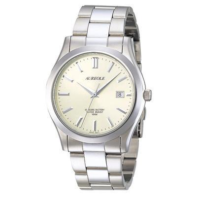 AUREOLE(オレオール) ドレス メンズ腕時計 SW-409M-3「他の商品と同梱不可/北海道、沖縄、離島別途送料」