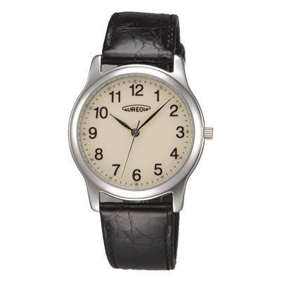 AUREOLE(オレオール) レザー メンズ腕時計 SW-467M-4「他の商品と同梱不可/北海道、沖縄、離島別途送料」