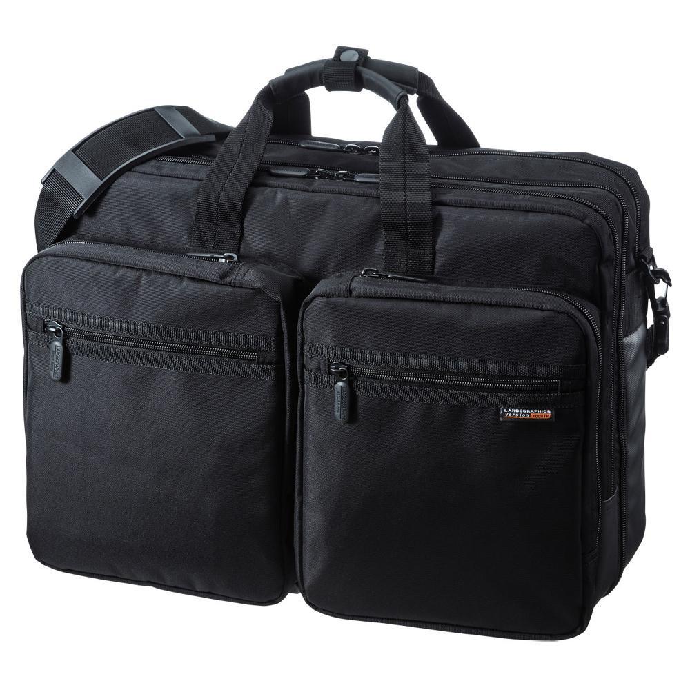 ●【送料無料】サンワサプライ 3WAYビジネスバッグ 出張用・大型 BAG-3WAY22BK「他の商品と同梱不可/北海道、沖縄、離島別途送料」