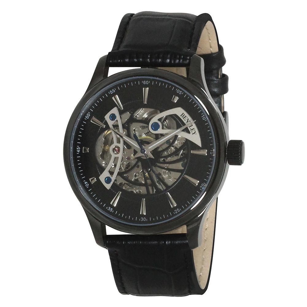 BENTLEY 機械式腕時計 BT-AM075-BKB「他の商品と同梱不可/北海道、沖縄、離島別途送料」