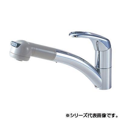 吐水、止水が簡単に行えます。 三栄 SANEI Modello シングルワンホールスプレー混合栓 K8760JV-13「他の商品と同梱不可/北海道、沖縄、離島別途送料」