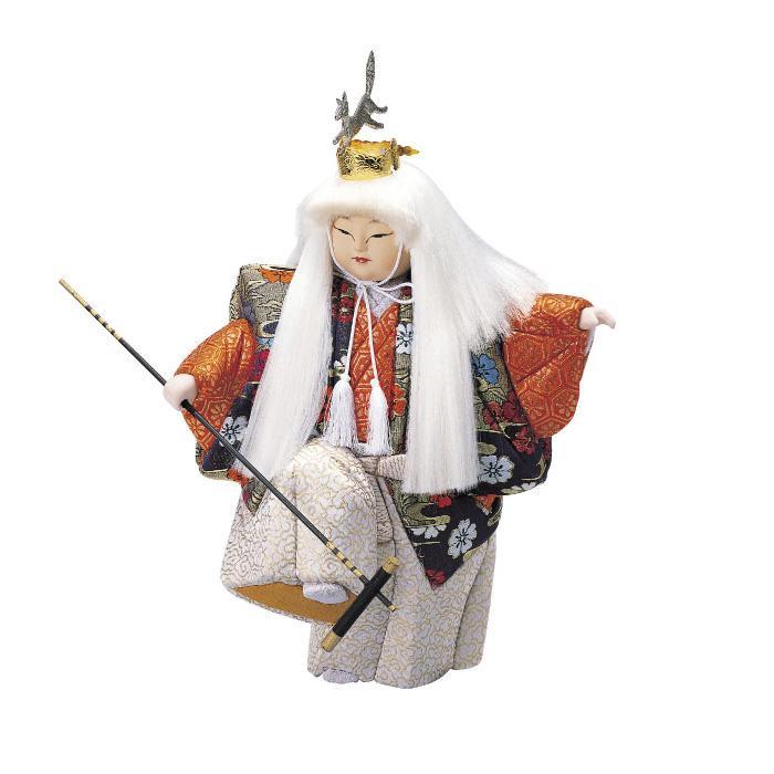 01-161 木目込み人形 白狐の舞 セット「他の商品と同梱不可/北海道、沖縄、離島別途送料」