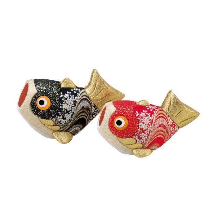01-746 木目込み人形 夫婦鯉 完成品「他の商品と同梱不可/北海道、沖縄、離島別途送料」