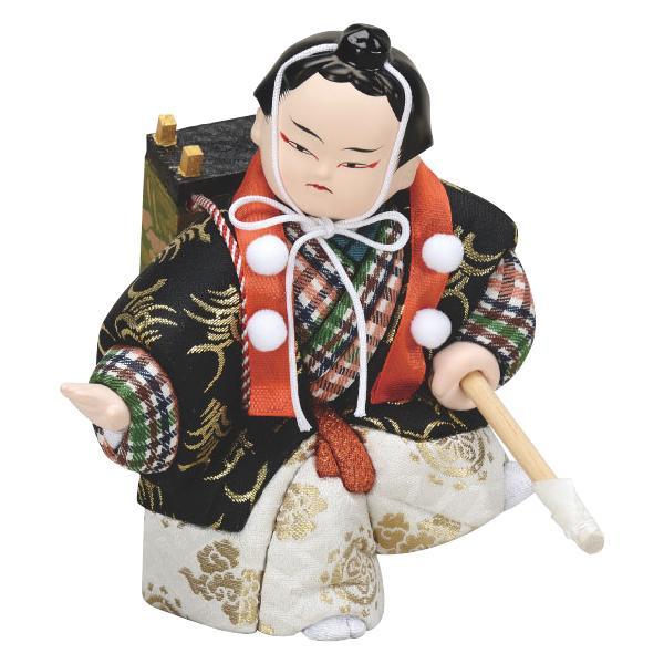 01-880 木目込み人形 六法弁慶 完成品「他の商品と同梱不可/北海道、沖縄、離島別途送料」