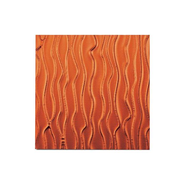 ユーパワー プラデック ウォール アート ウェーブ(メタルオレンジ) PL-18015「他の商品と同梱不可/北海道、沖縄、離島別途送料」