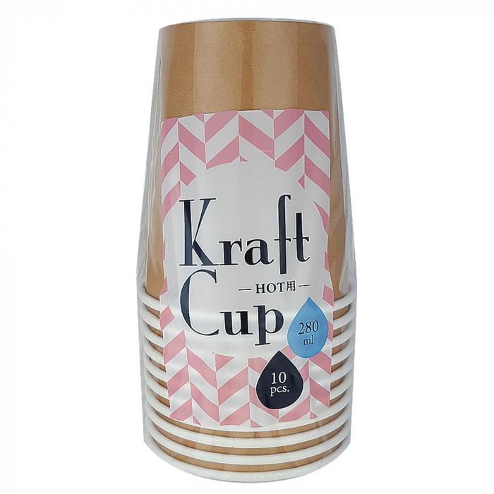 アートナップ クラフトカップ 280ml 10個×90 KR-41「他の商品と同梱不可/北海道、沖縄、離島別途送料」