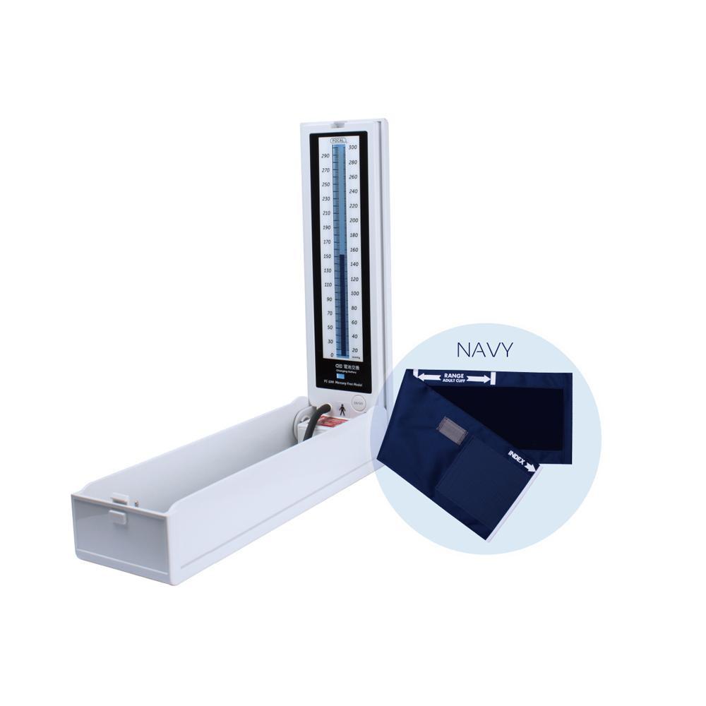 マーキュリーフリー血圧計 ナイロンカフ ネイビー FC-500 NC 20901-03「他の商品と同梱不可/北海道、沖縄、離島別途送料」