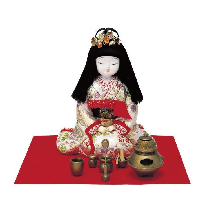 01-265 木目込み人形 おてまえ 完成品「他の商品と同梱不可/北海道、沖縄、離島別途送料」