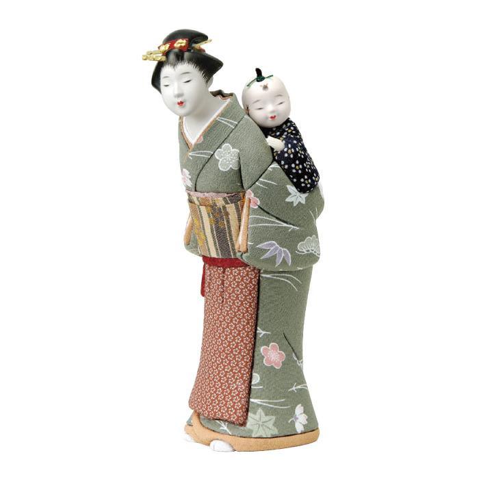 01-631 木目込み人形 おねんね 完成品「他の商品と同梱不可/北海道、沖縄、離島別途送料」
