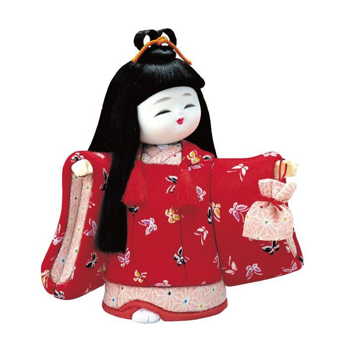 01-442 木目込み人形 およばれ 完成品「他の商品と同梱不可/北海道、沖縄、離島別途送料」