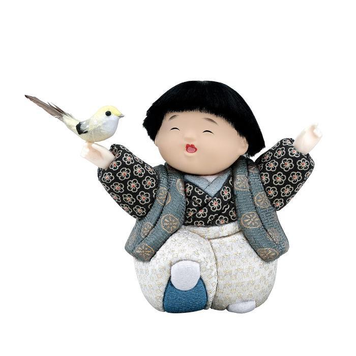 01-680 木目込み人形 さえずり 完成品「他の商品と同梱不可/北海道、沖縄、離島別途送料」