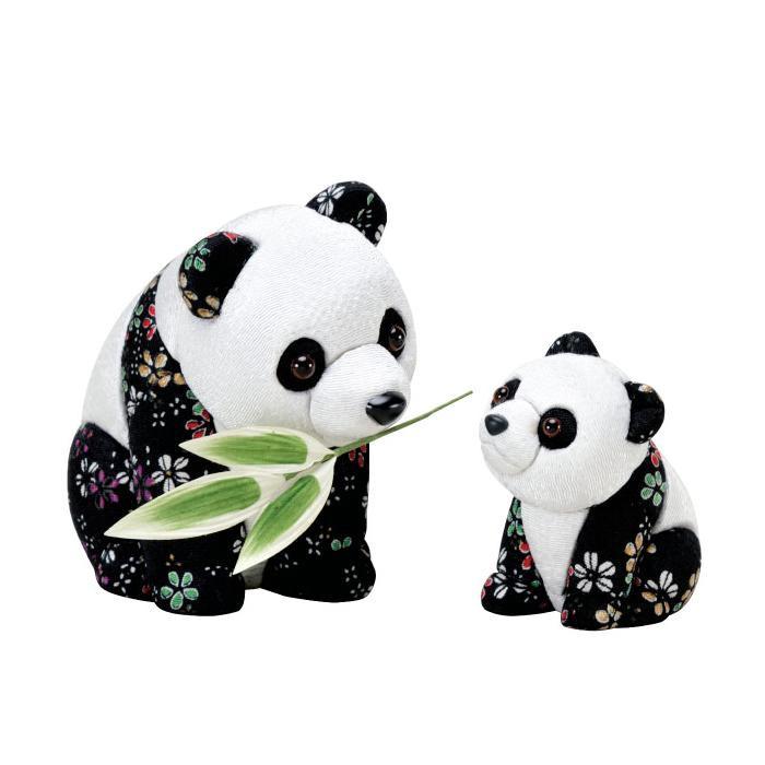 01-857 パンダの親子 完成品「他の商品と同梱不可/北海道、沖縄、離島別途送料」