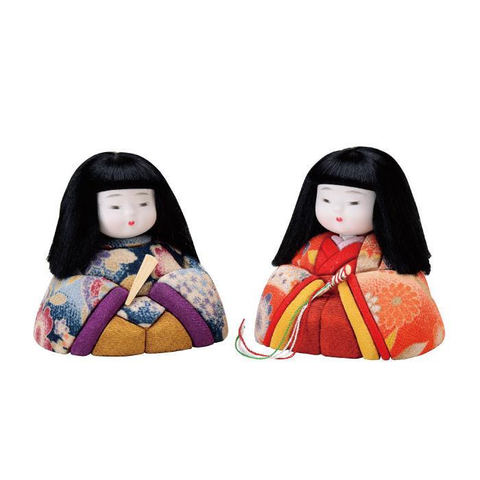 01-764 木目込み人形 みやこびな 完成品「他の商品と同梱不可/北海道、沖縄、離島別途送料」