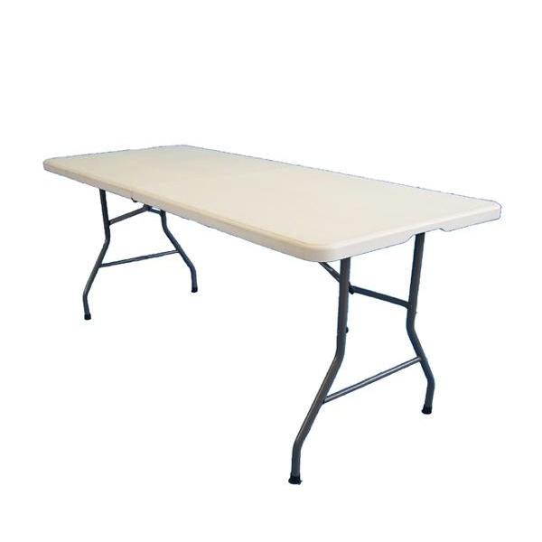 PE折り畳みテーブル 約180cm TAN-599-180「他の商品と同梱不可/北海道、沖縄、離島別途送料」