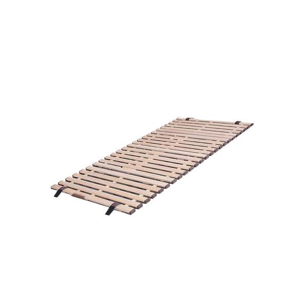 立ち上げ簡単! 軽量桐すのこベッド 4つ折れ式 シングル KKF-210「他の商品と同梱不可/北海道、沖縄、離島別途送料」