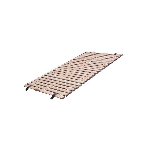 立ち上げ簡単! 軽量桐すのこベッド 4つ折れ式 セミシングル KKF-80「他の商品と同梱不可/北海道、沖縄、離島別途送料」