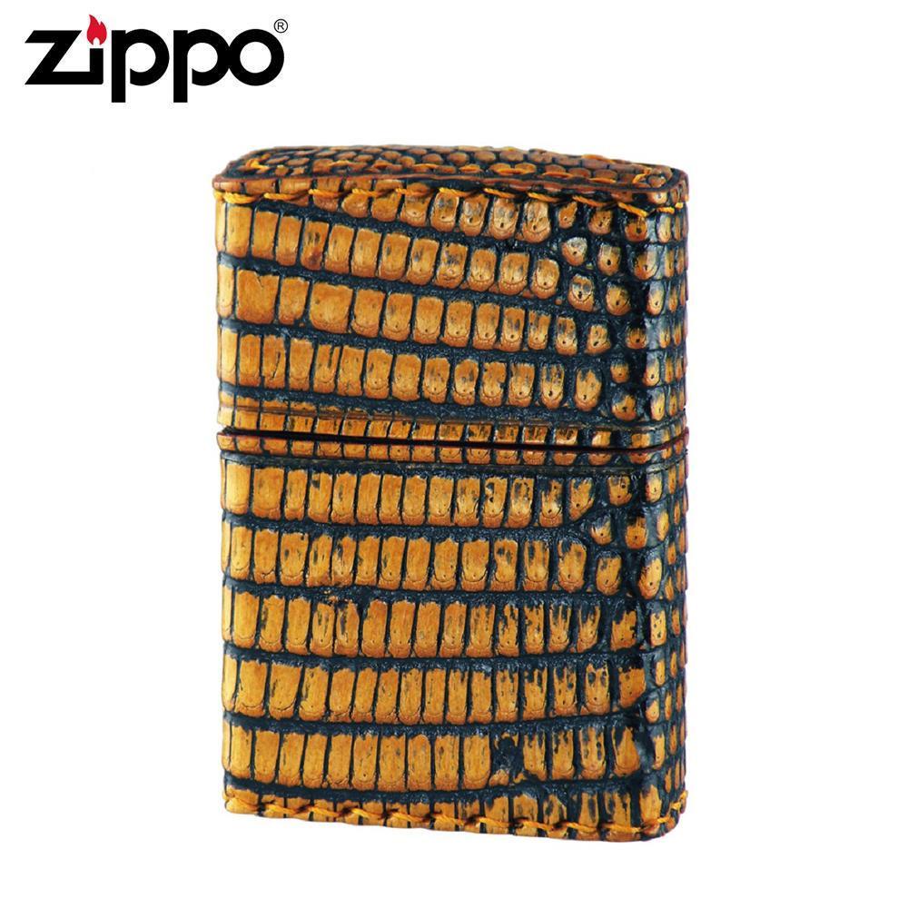ZIPPO(ジッポー) オイルライター 2Z-LIZARD リザード革巻き「他の商品と同梱不可」